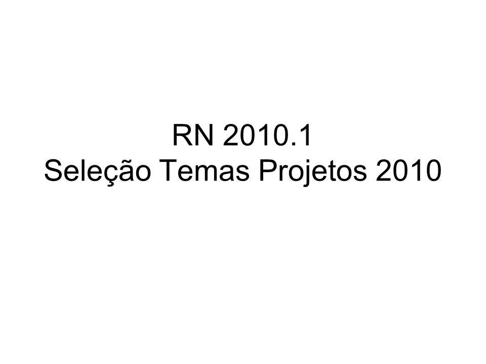 RN 2010.1 Seleção Temas Projetos 2010