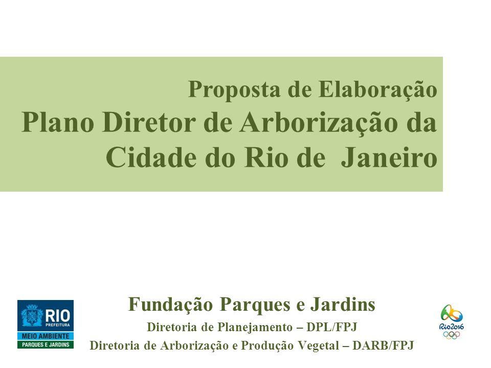 Fundação Parques e Jardins Diretoria de Planejamento – DPL/FPJ Diretoria de Arborização e Produção Vegetal – DARB/FPJ Proposta de Elaboração Plano Dir