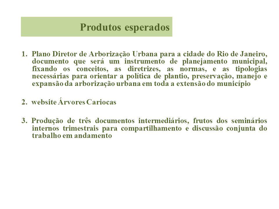 1. Plano Diretor de Arborização Urbana para a cidade do Rio de Janeiro, documento que será um instrumento de planejamento municipal, fixando os concei