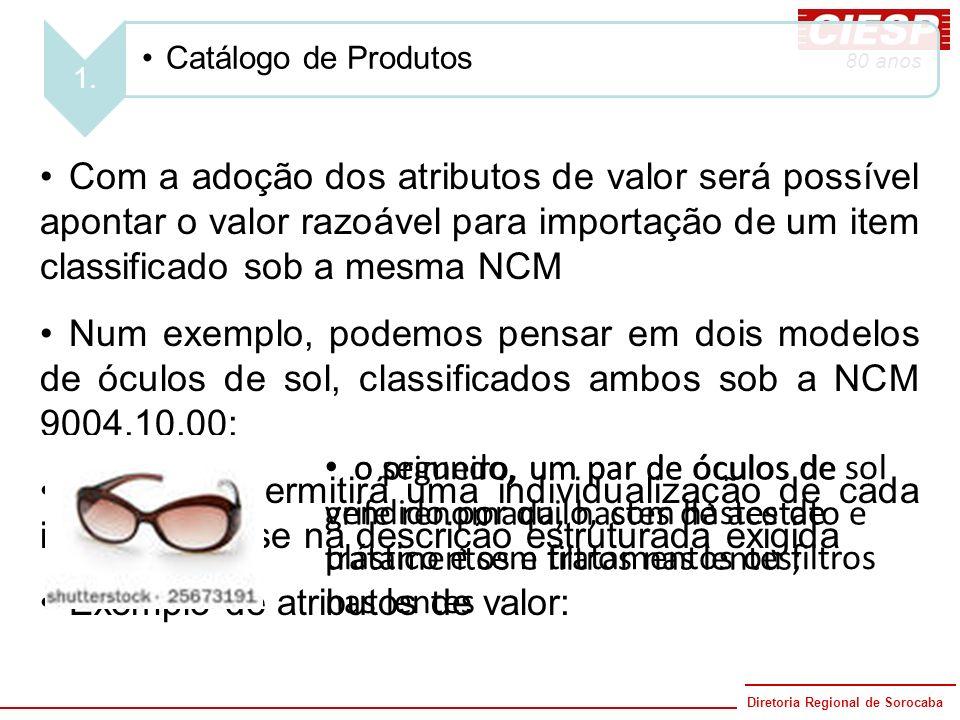 Diretoria Regional de Sorocaba 80 anos o segundo, um par de óculos de sol vendido por quilo, com hastes de plástico e sem tratamentos ou filtros nas l
