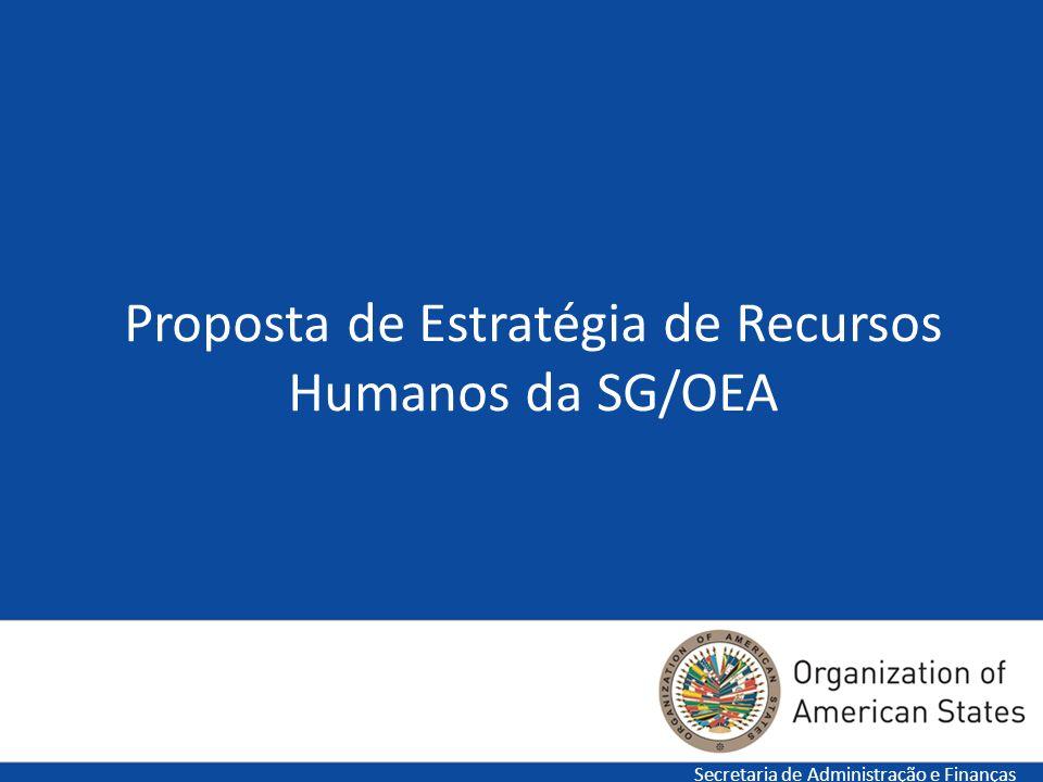 1 Proposta de Estratégia de Recursos Humanos da SG/OEA Secretaria de Administração e Finanças