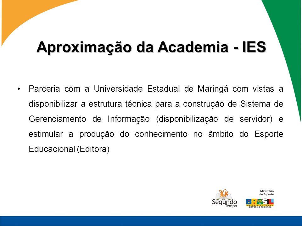 Aproximação da Academia - IES Parceria com a Universidade Estadual de Maringá com vistas a disponibilizar a estrutura técnica para a construção de Sis