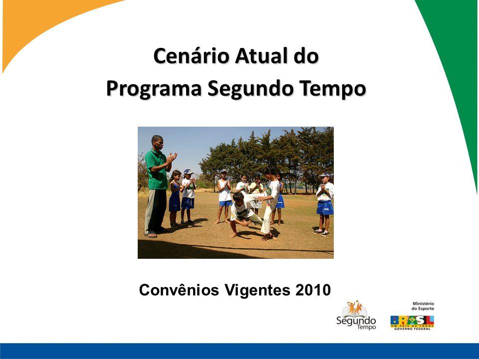 Cenário Atual do Programa Segundo Tempo Convênios Vigentes 2010