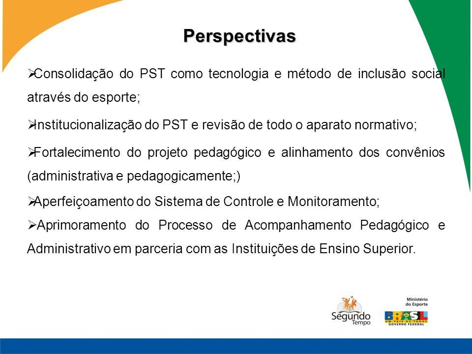 Consolidação do PST como tecnologia e método de inclusão social através do esporte; Institucionalização do PST e revisão de todo o aparato normativo;