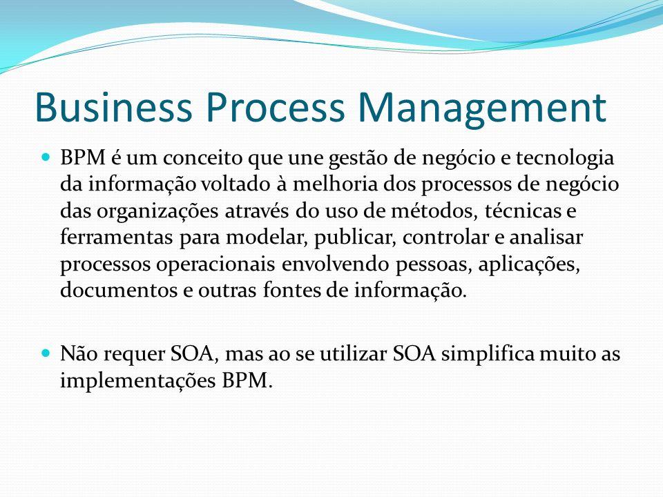 Business Process Management BPM é um conceito que une gestão de negócio e tecnologia da informação voltado à melhoria dos processos de negócio das org