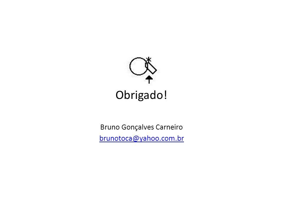 Obrigado! Bruno Gonçalves Carneiro brunotoca@yahoo.com.br