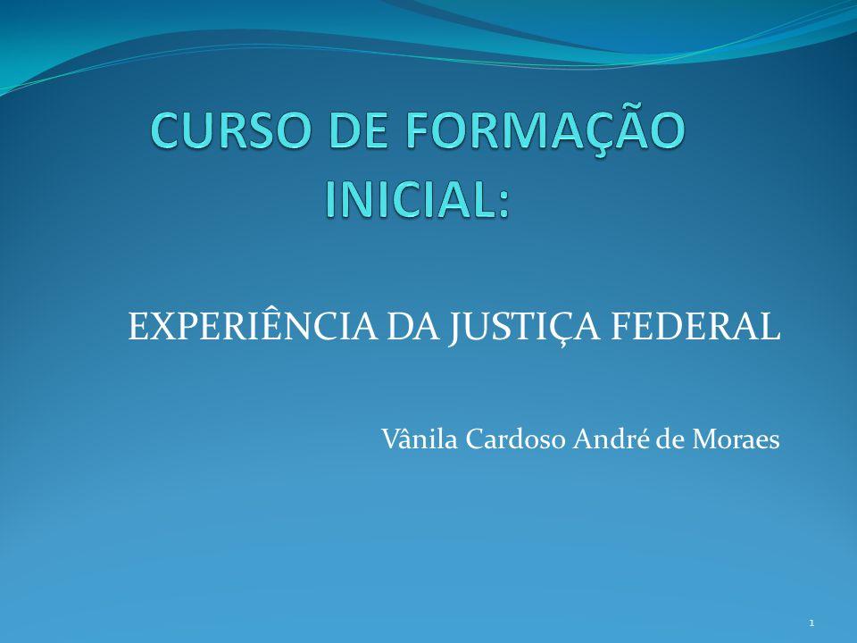 EXPERIÊNCIA DA JUSTIÇA FEDERAL Vânila Cardoso André de Moraes 1