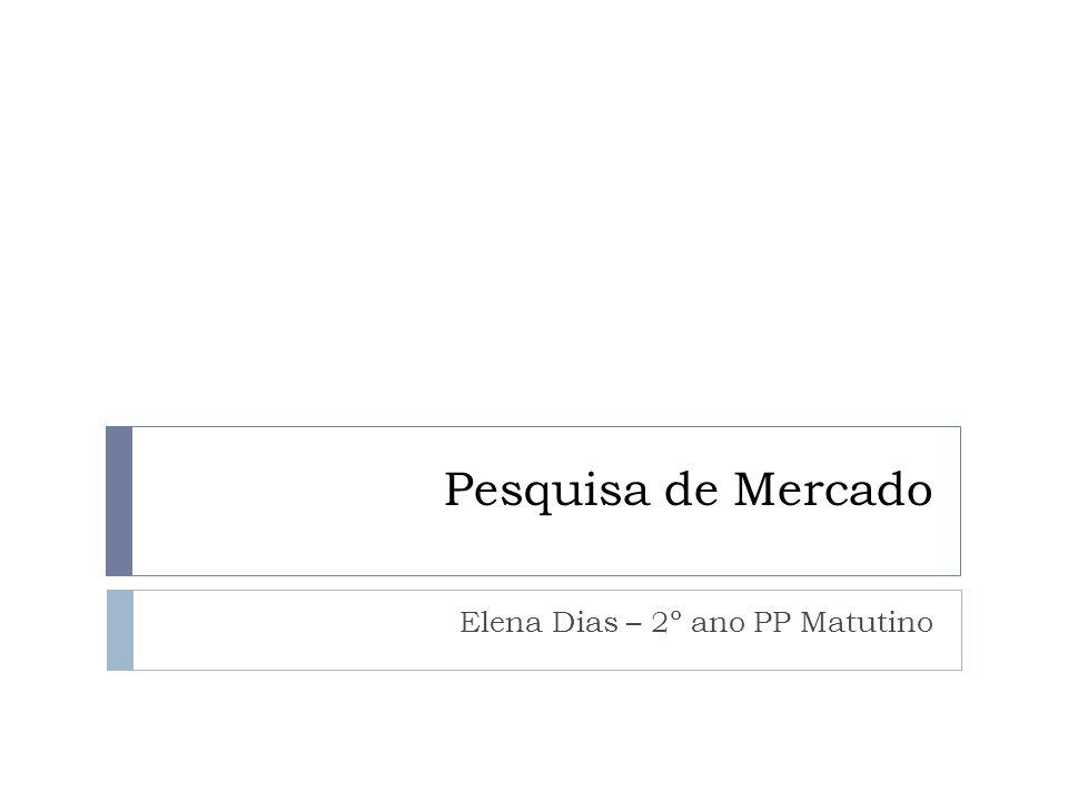 Pesquisa de Mercado Elena Dias – 2º ano PP Matutino
