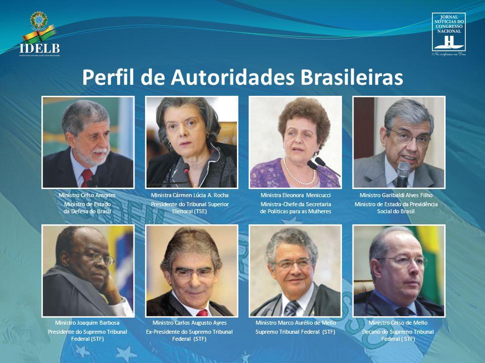 Ministro Celso Amorim Ministro de Estado da Defesa do Brasil Ministra Cármen Lúcia A.