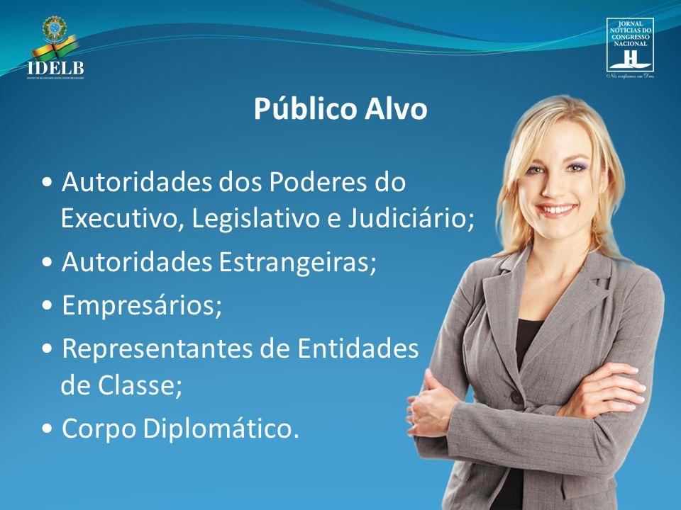 Autoridades dos Poderes do Executivo, Legislativo e Judiciário; Autoridades Estrangeiras; Empresários; Representantes de Entidades de Classe; Corpo Diplomático.