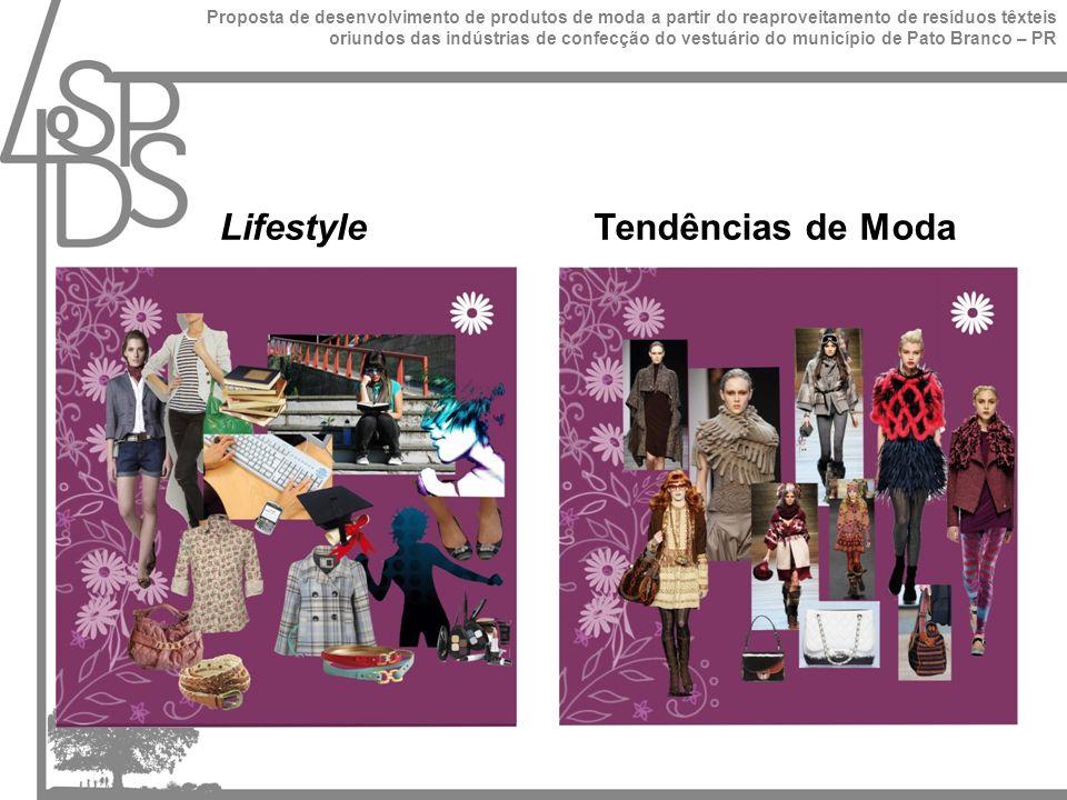 Lifestyle Tendências de Moda Proposta de desenvolvimento de produtos de moda a partir do reaproveitamento de resíduos têxteis oriundos das indústrias de confecção do vestuário do município de Pato Branco – PR