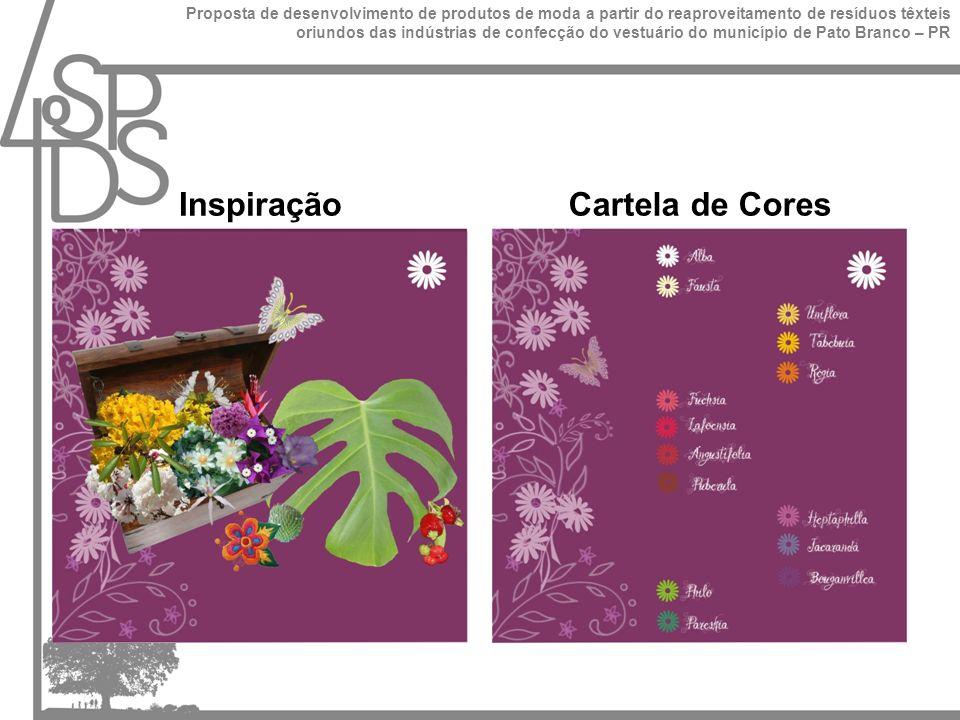 InspiraçãoCartela de Cores Proposta de desenvolvimento de produtos de moda a partir do reaproveitamento de resíduos têxteis oriundos das indústrias de confecção do vestuário do município de Pato Branco – PR