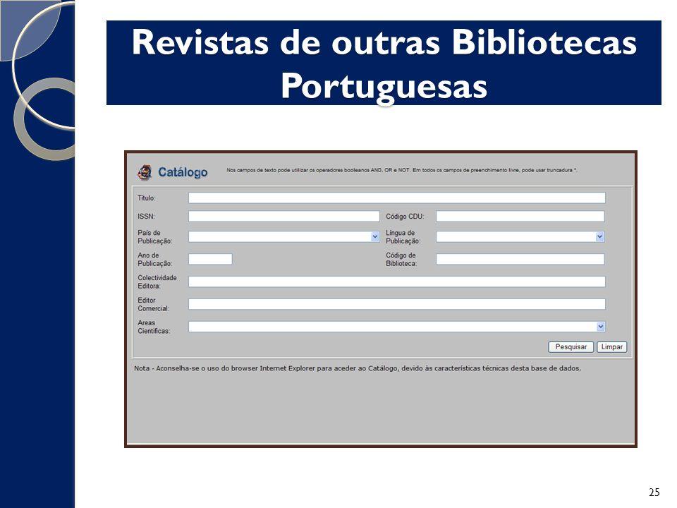 Revistas de outras Bibliotecas Portuguesas 25