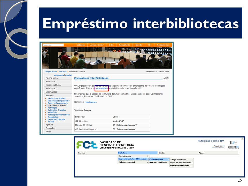 Empréstimo interbibliotecas 26