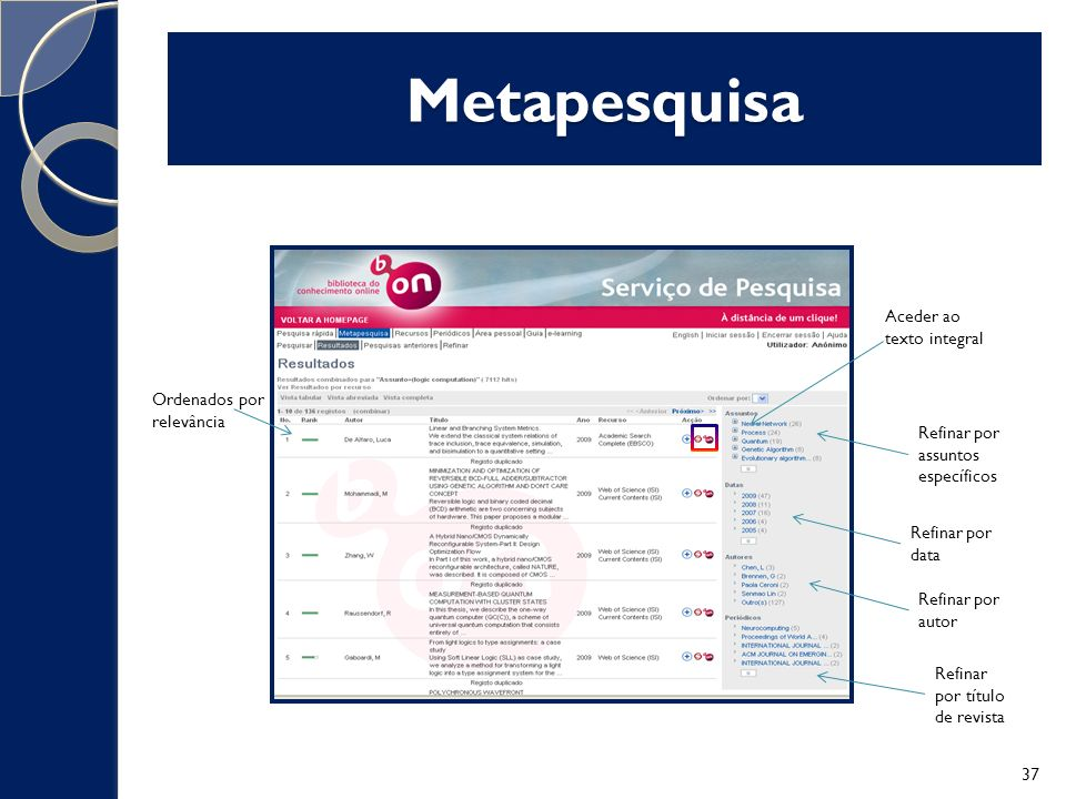 Metapesquisa Aceder ao texto integral Ordenados por relevância Refinar por assuntos específicos Refinar por data Refinar por autor Refinar por título de revista 37