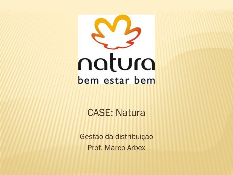 CASE: Natura Gestão da distribuição Prof. Marco Arbex