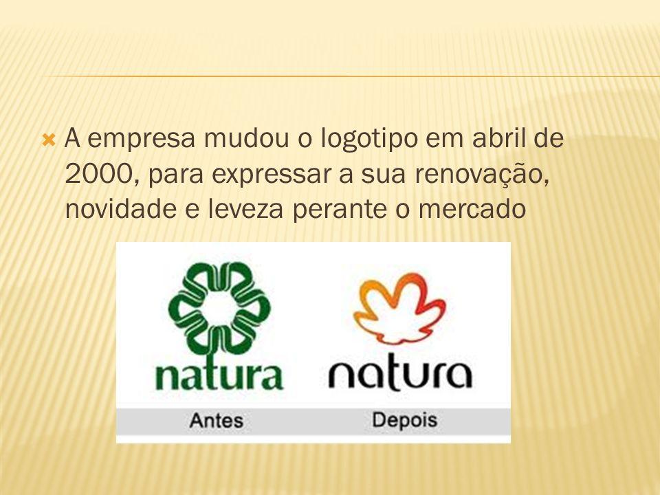 A empresa mudou o logotipo em abril de 2000, para expressar a sua renovação, novidade e leveza perante o mercado