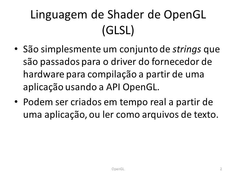 Versões do OpenGL 3OpenGL