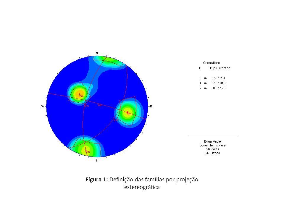 Figura 1: Definição das famílias por projeção estereográfica