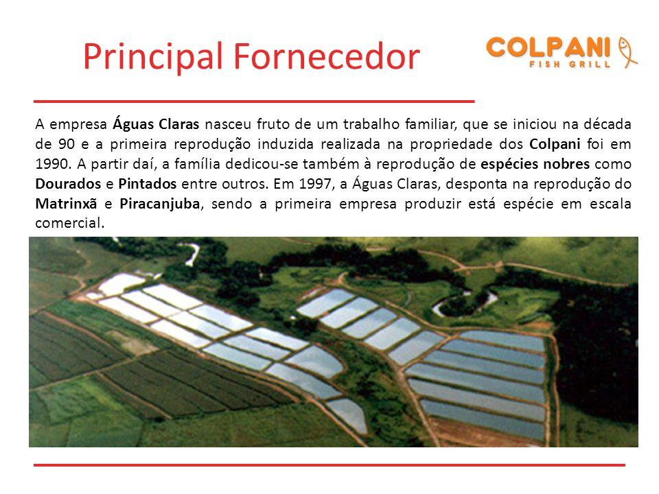 Principal Fornecedor A empresa Águas Claras nasceu fruto de um trabalho familiar, que se iniciou na década de 90 e a primeira reprodução induzida real