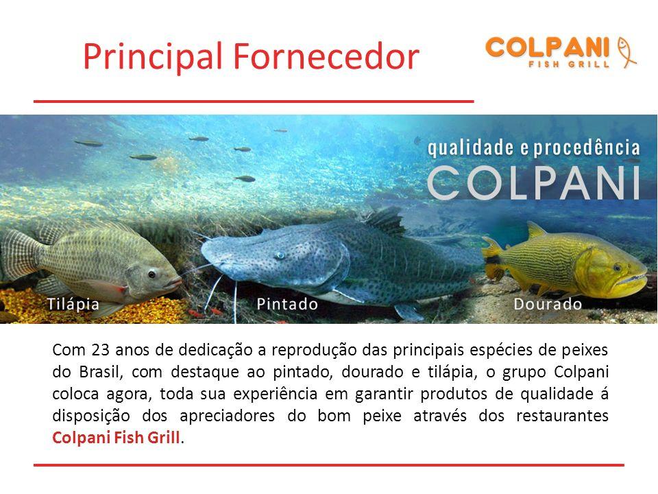 Principal Fornecedor Com 23 anos de dedicação a reprodução das principais espécies de peixes do Brasil, com destaque ao pintado, dourado e tilápia, o