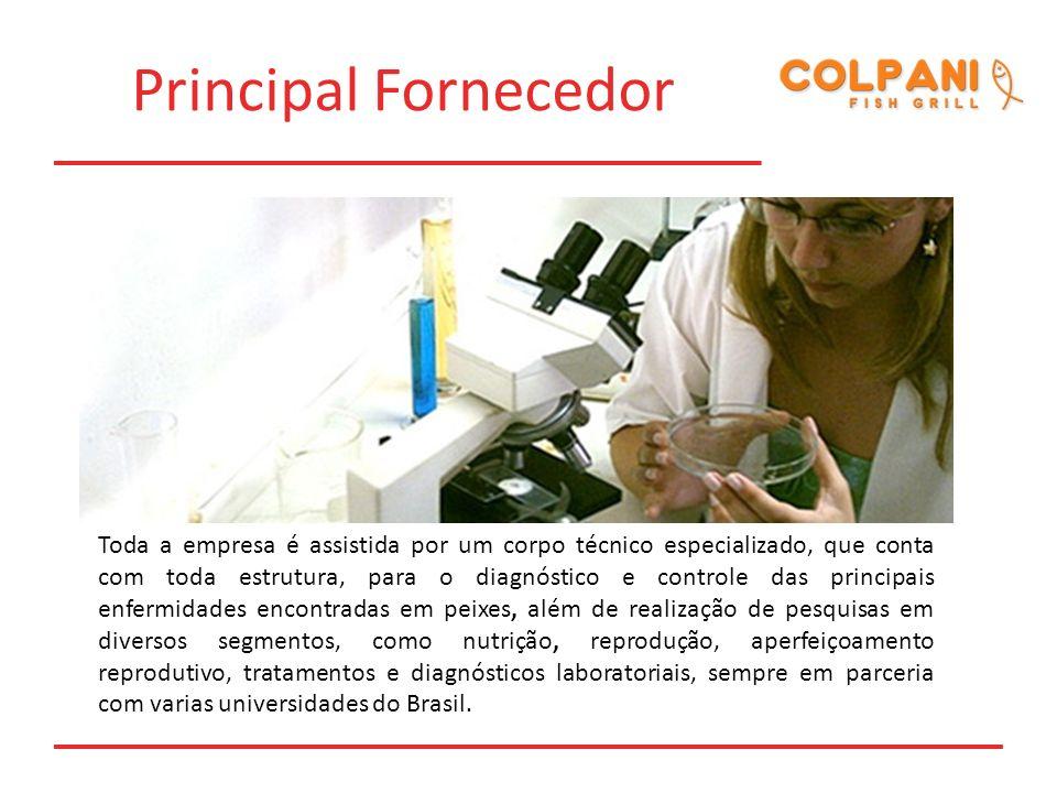 Principal Fornecedor Toda a empresa é assistida por um corpo técnico especializado, que conta com toda estrutura, para o diagnóstico e controle das pr