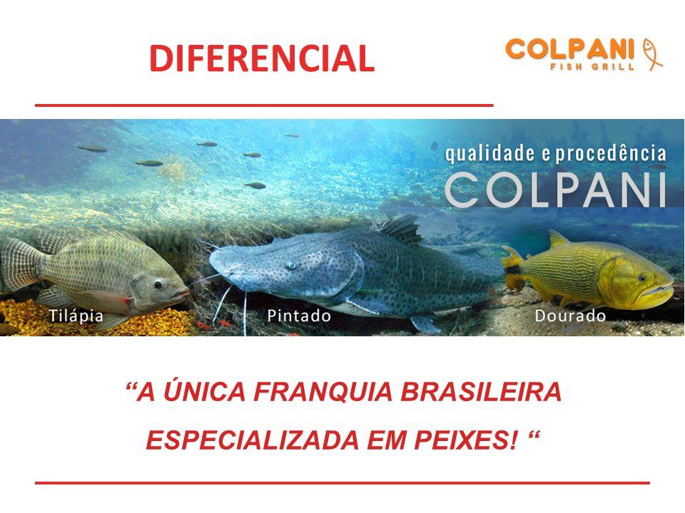 DIFERENCIAL A ÚNICA FRANQUIA BRASILEIRA ESPECIALIZADA EM PEIXES!