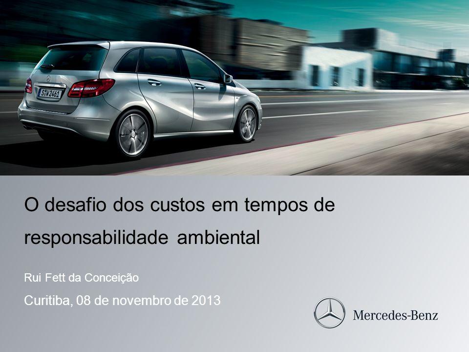 O desafio dos custos em tempos de responsabilidade ambiental Rui Fett da Conceição Curitiba, 08 de novembro de 2013