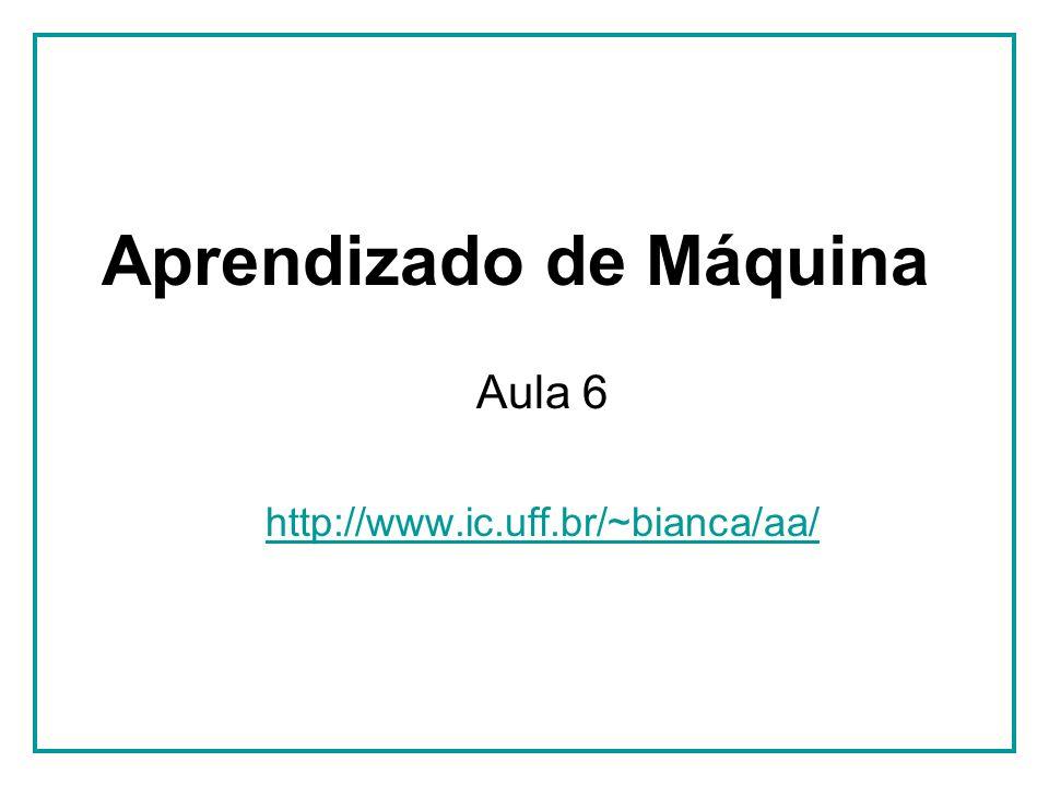 Aprendizado de Máquina Aula 6 http://www.ic.uff.br/~bianca/aa/