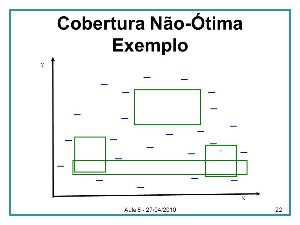 Cobertura Não-Ótima Exemplo X Y + Aula 6 - 27/04/201022