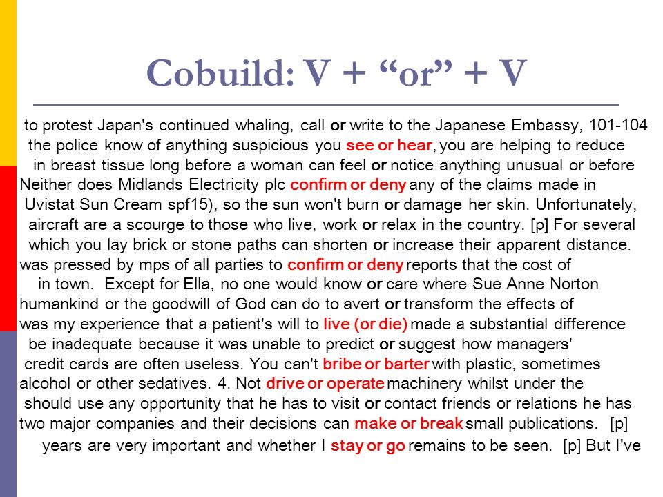 Cobuild: V + or + V to protest Japan's continued whaling, call or write to the Japanese Embassy, 101-104 the police know of anything suspicious you se