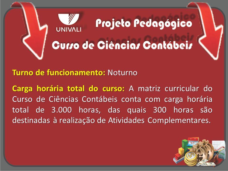 Breve Histórico: O Curso de Ciências Contábeis da Universidade do Vale do Itajaí obteve autorização para funcionamento pelo Parecer nº.