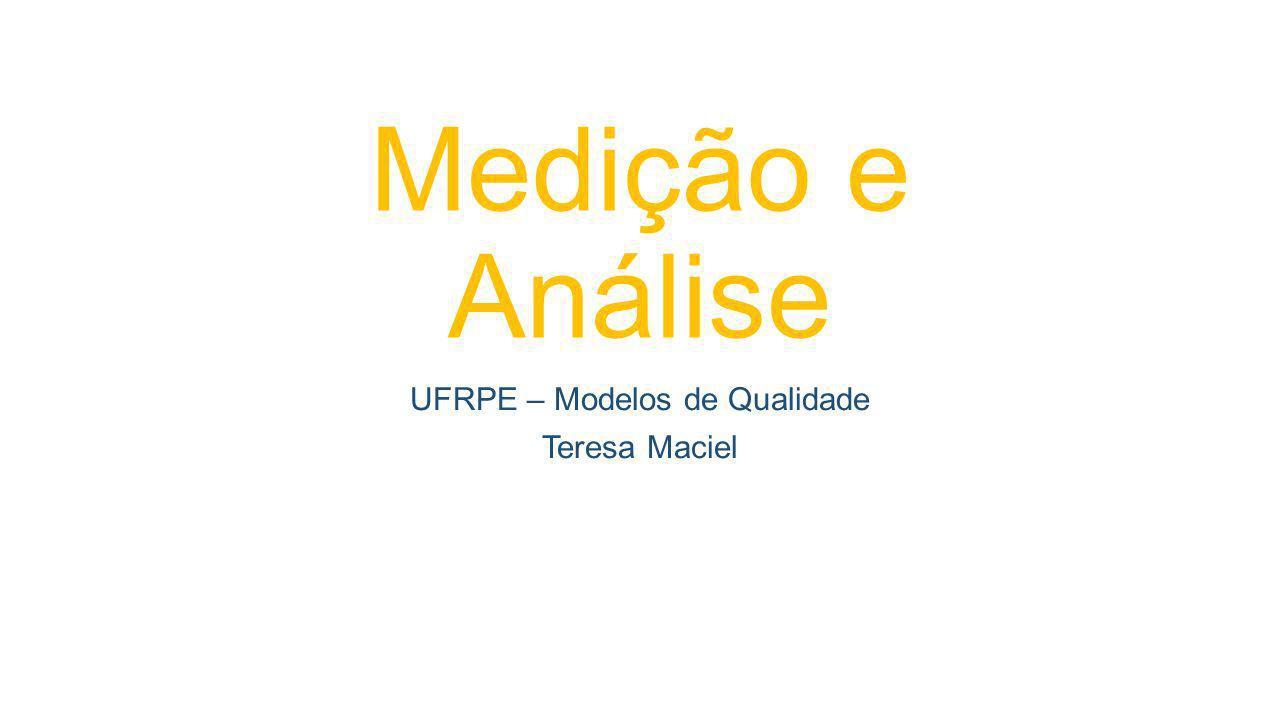 Medição e Análise UFRPE – Modelos de Qualidade Teresa Maciel