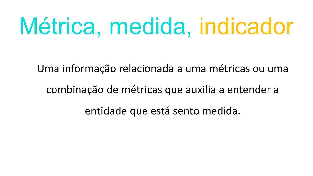 Uma informação relacionada a uma métricas ou uma combinação de métricas que auxilia a entender a entidade que está sento medida.