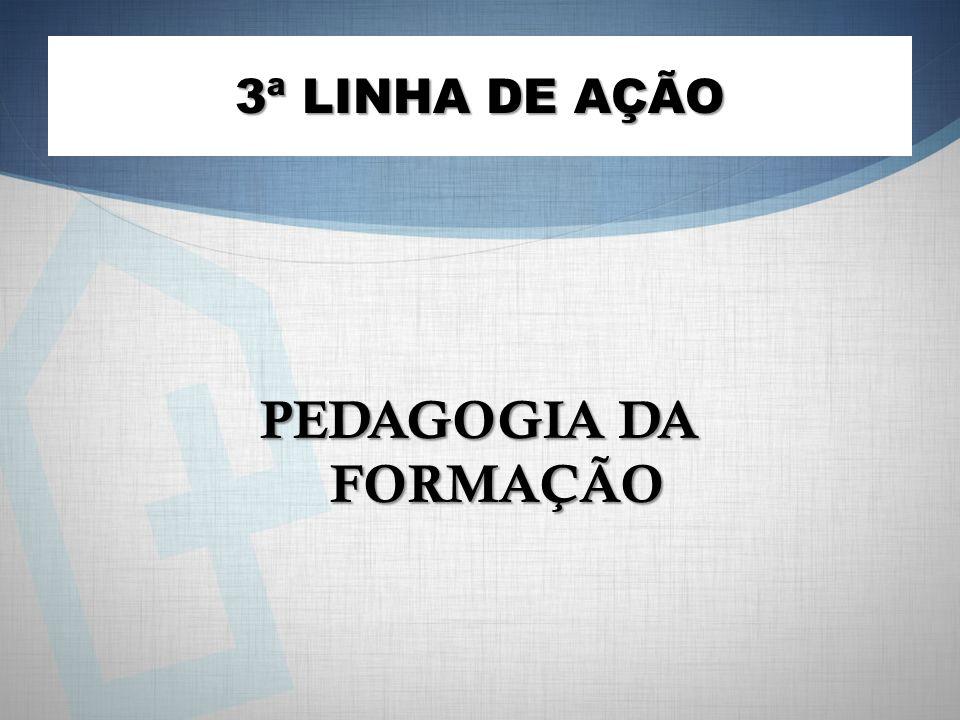 PEDAGOGIA DA FORMAÇÃO 3ª LINHA DE AÇÃO