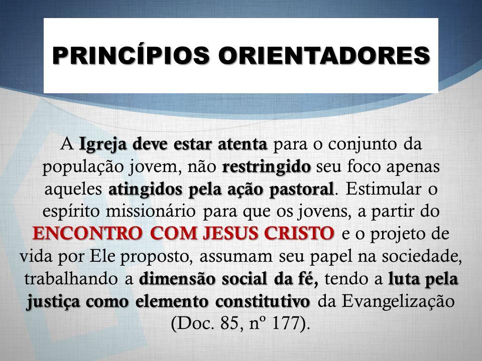 Igreja deve estar atenta restringido atingidos pela ação pastoral ENCONTRO COM JESUS CRISTO dimensão social da féluta pela justiça como elemento const