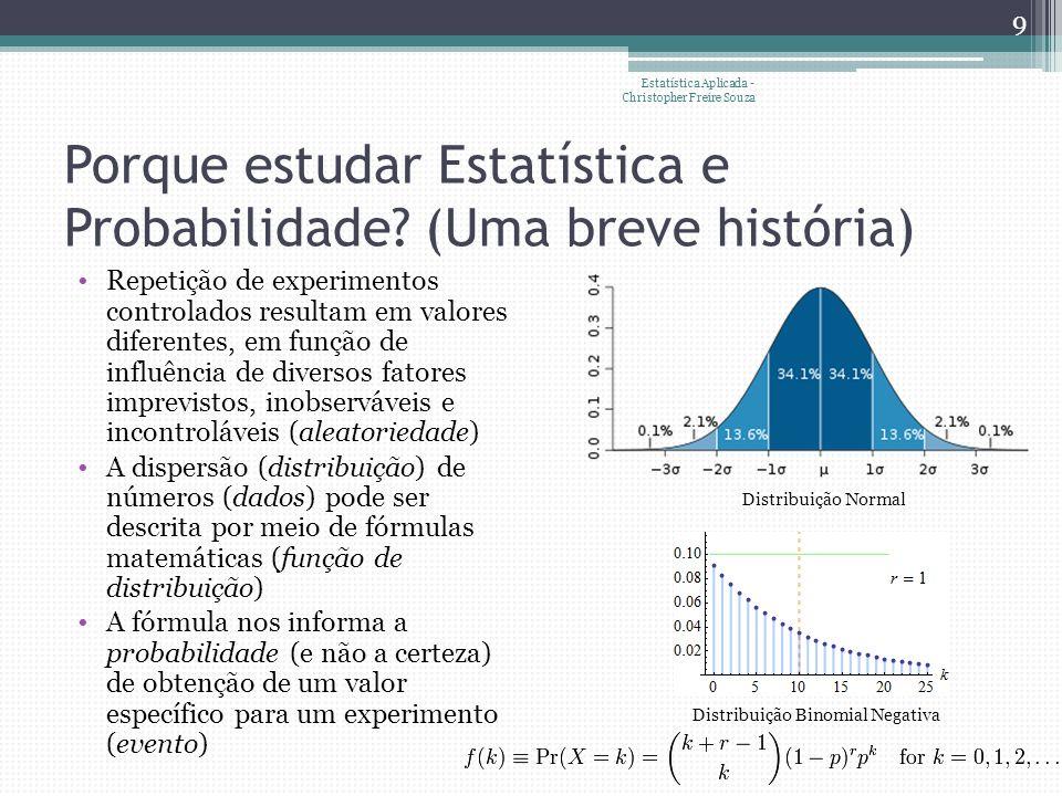 Porque estudar Estatística e Probabilidade.