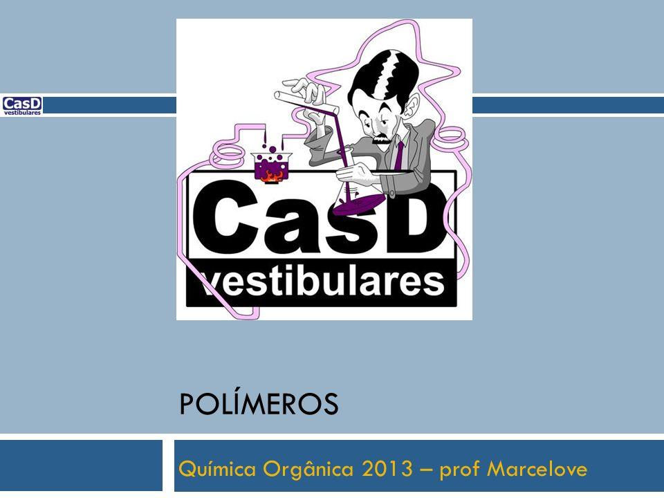 UESPI - 2012 Polímeros são compostos químicos de moléculas muito grandes, formadas pela reação de moléculas pequenas chamadas monômeros.