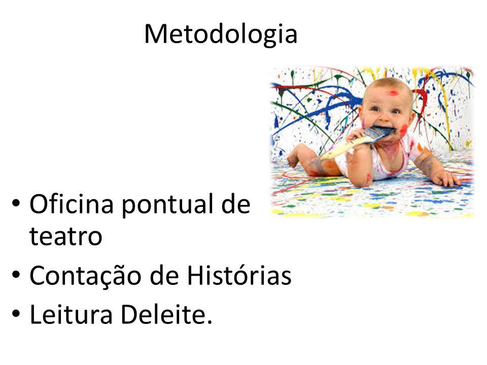 Oficina pontual de teatro Contação de Histórias Leitura Deleite. Metodologia