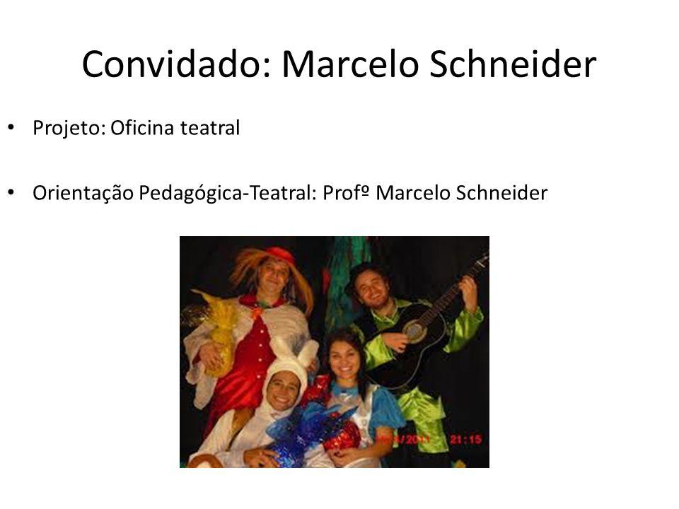 Projeto: Oficina teatral Orientação Pedagógica-Teatral: Profº Marcelo Schneider Convidado: Marcelo Schneider