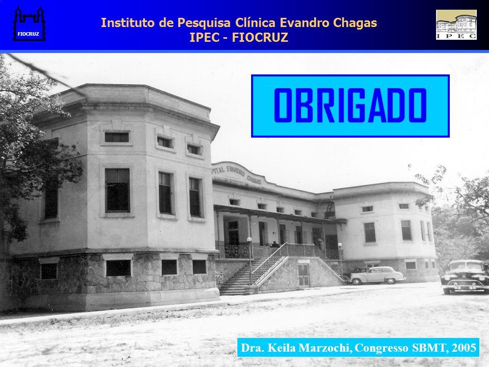 Instituto de Pesquisa Clínica Evandro Chagas IPEC - FIOCRUZ FIOCRUZ Dra. Keila Marzochi, Congresso SBMT, 2005 OBRIGADO