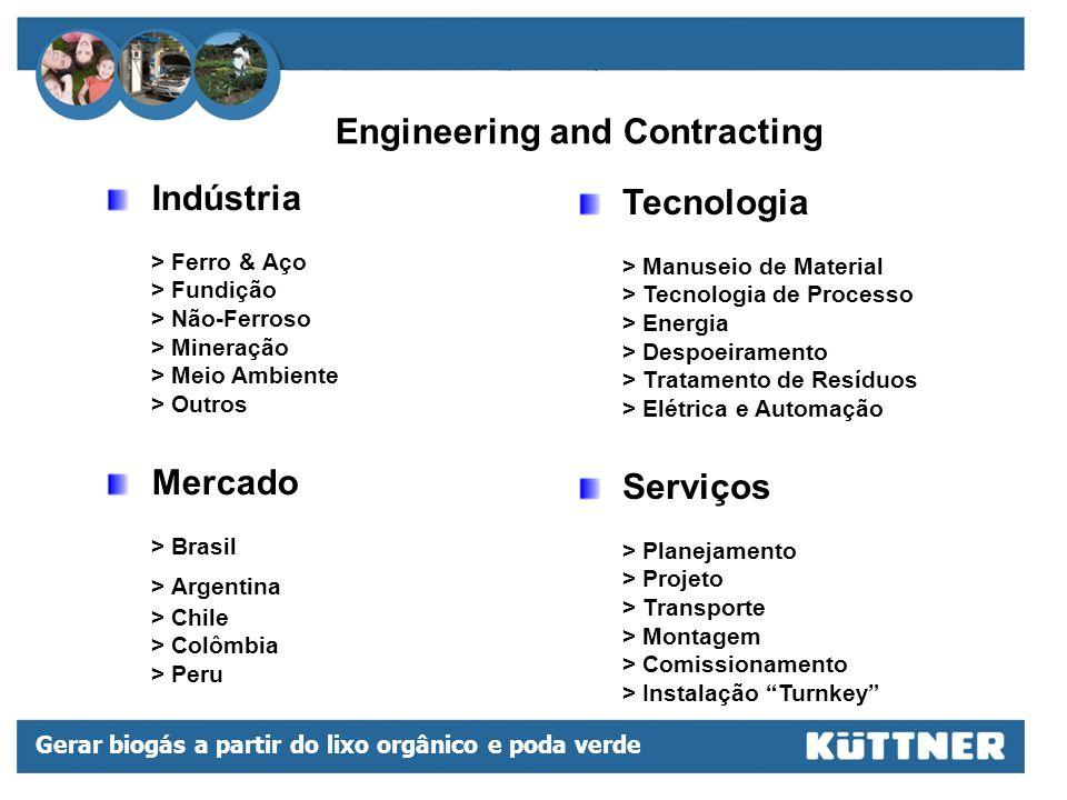 Gerar biogás a partir do lixo orgânico e poda verde Sede da Kuttner do Brasil em Contagem/MG Escritórios Oficina Jateamento/Pintura