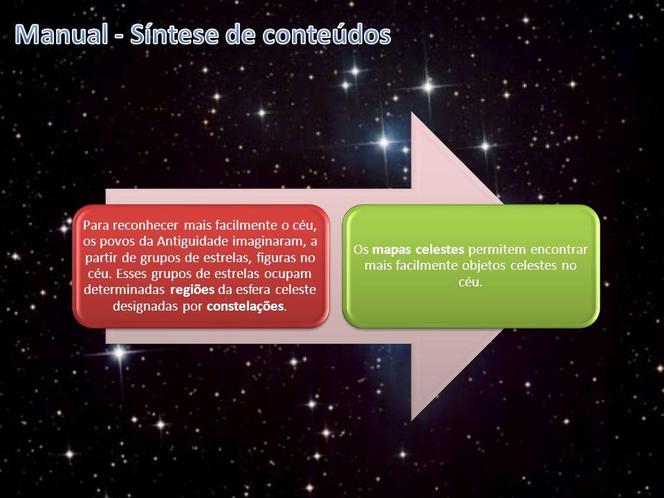 Para reconhecer mais facilmente o céu, os povos da Antiguidade imaginaram, a partir de grupos de estrelas, figuras no céu. Esses grupos de estrelas oc