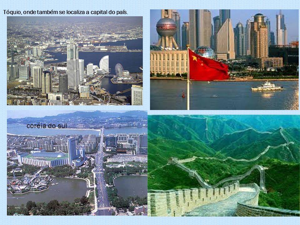 coréia do sul Tóquio, onde também se localiza a capital do país.