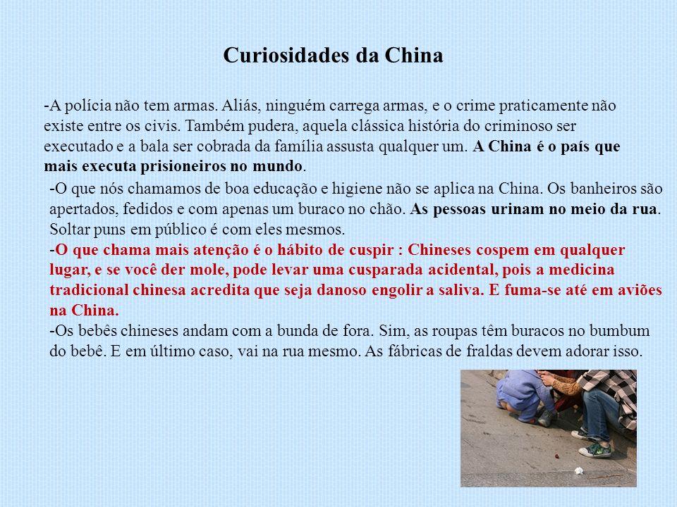 Curiosidades da China -A polícia não tem armas.