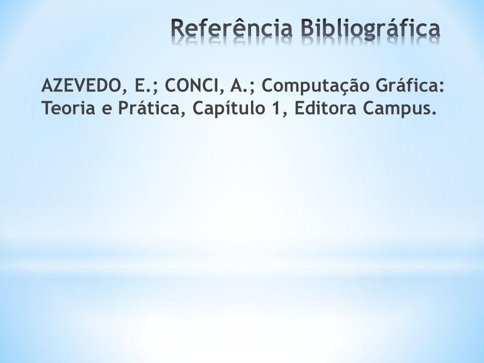 AZEVEDO, E.; CONCI, A.; Computação Gráfica: Teoria e Prática, Capítulo 1, Editora Campus.