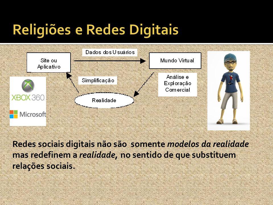 Redes sociais digitais não são somente modelos da realidade mas redefinem a realidade, no sentido de que substituem relações sociais.