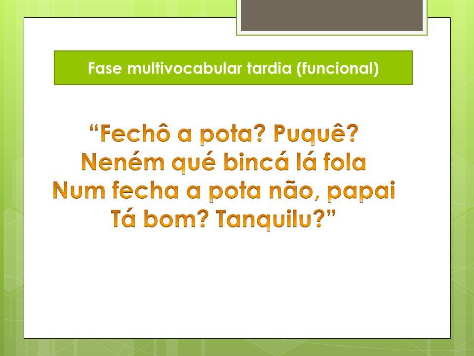 Fase multivocabular tardia (funcional)