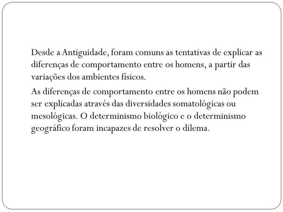 IDEIA SOBRE A ORIGEM DA CULTURA (cap.