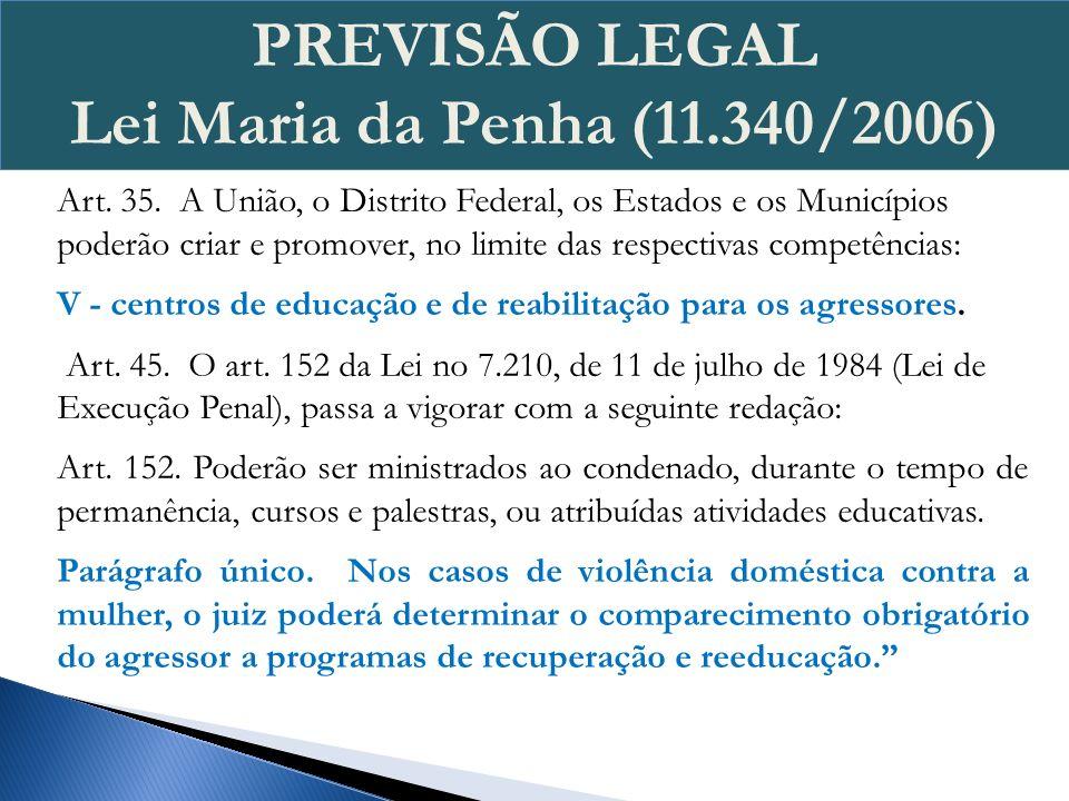 Determina que a violência doméstica e familiar contra a mulher é uma responsabilidade do Estado Brasileiro e não uma mera questão familiar; Proíbe a aplicação de penas pecuniárias (pagamento de multas ou cestas básicas) aos crimes cometidos contra as mulheres e demais institutos despenalizadores da Lei 9.099/95 (julgamento da ADI 4424 e a ADC 19 em fevereiro de 2012, pelo STF.